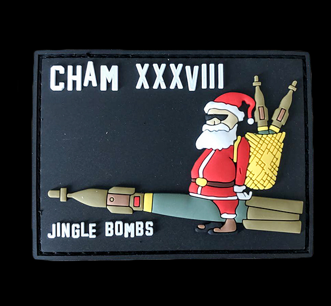 Patch gomme Cham 38 Jingle Bombs - 10 euros